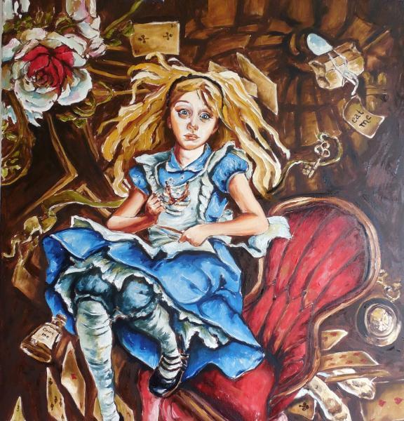 """Obraz Siedlová Tatiana - """"Alice v říši divů""""."""