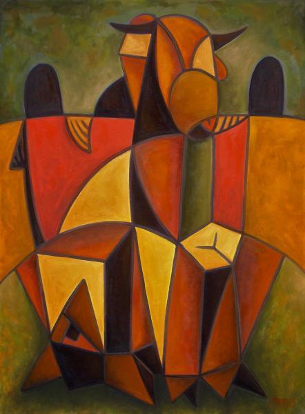 Obraz Malasits Zsolt - Na židlích sedící soví corrida