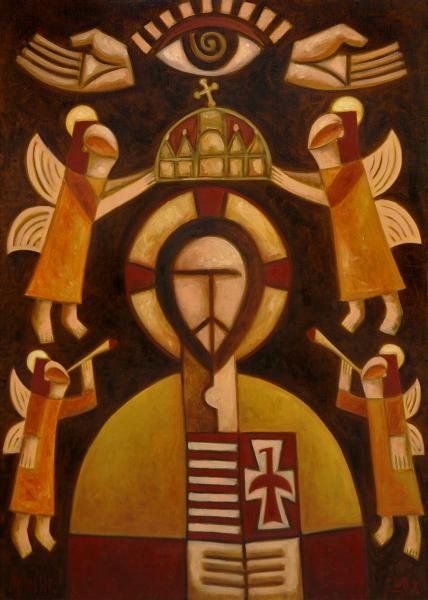 Obraz Malasits Zsolt - Ježíšova ikona se svatou korunou