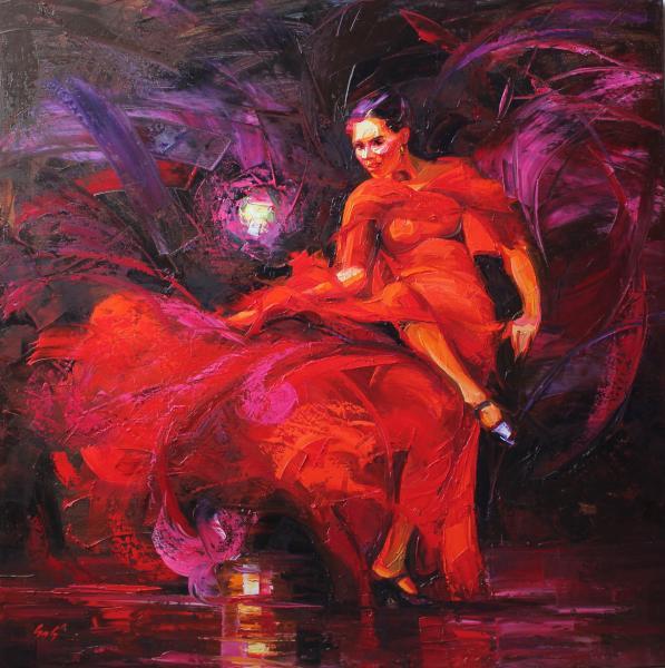 Obraz Szakács Éva - Tanec se světlem
