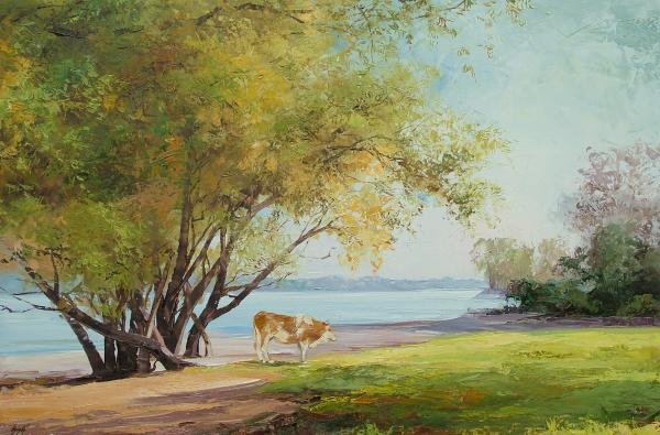 Obraz Szakács Éva - Na břehu Dunaje