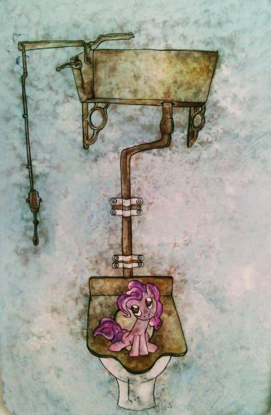 Obraz Klose Andrea - Pinky Pie on the toilet