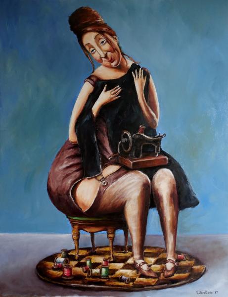 """Obraz Siedlová Tatiana - """"Moje malé černé šaty""""."""