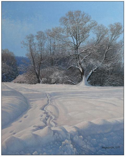 Přes čertvý sníh