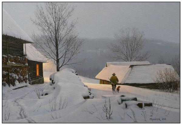 Vesnička pod sněhem