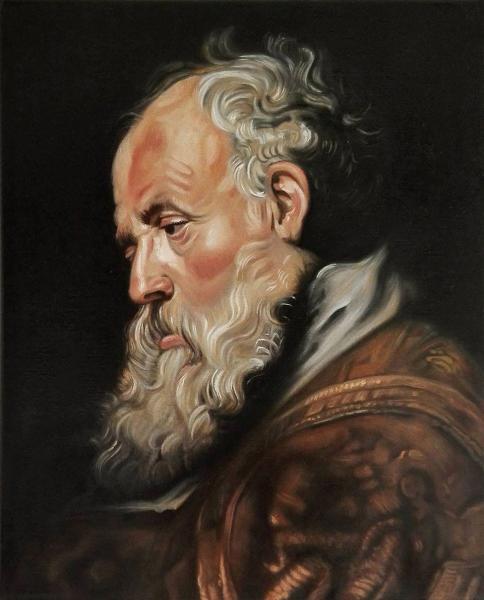 Bujna Rastislav - Kopie P. P. Rubens - Hlava starca