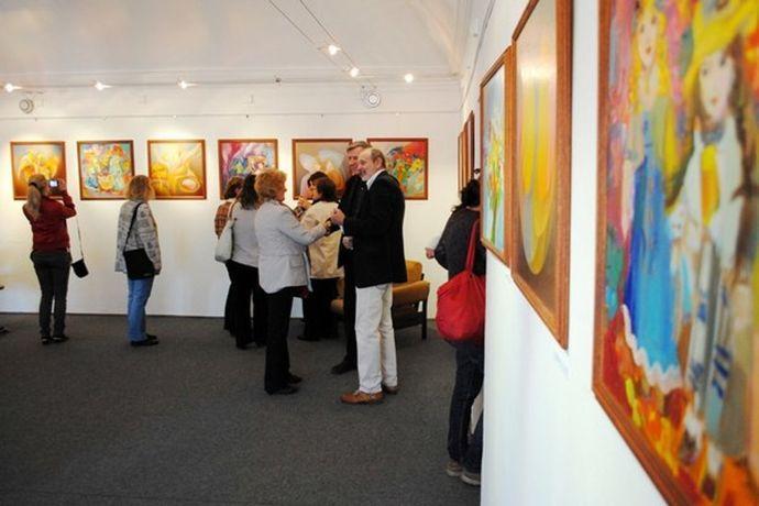 Společná výstava s manželem Orestem Dubayem